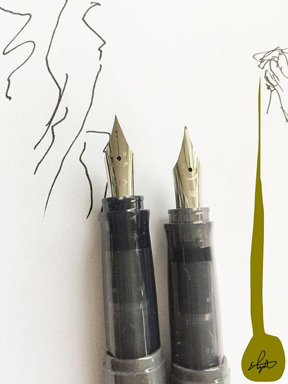 PILOT万年筆「kakuno」を使い、