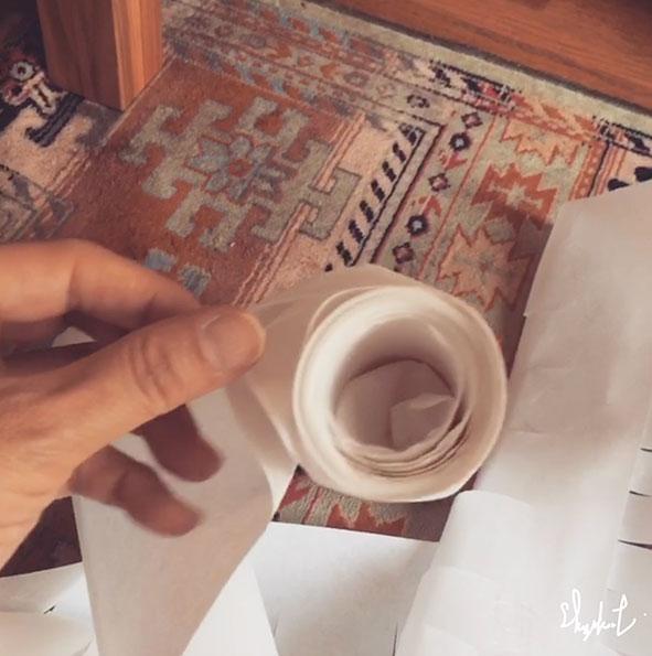 障子紙の簾 01