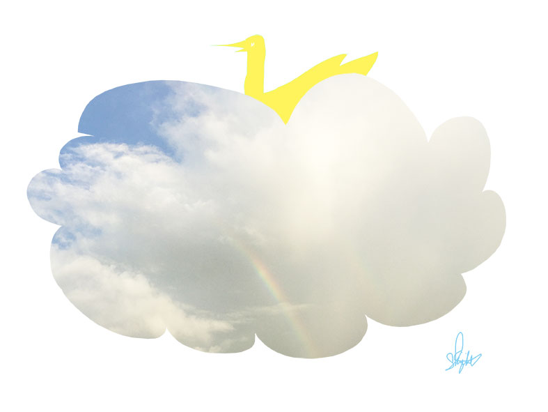 この日の虹は。