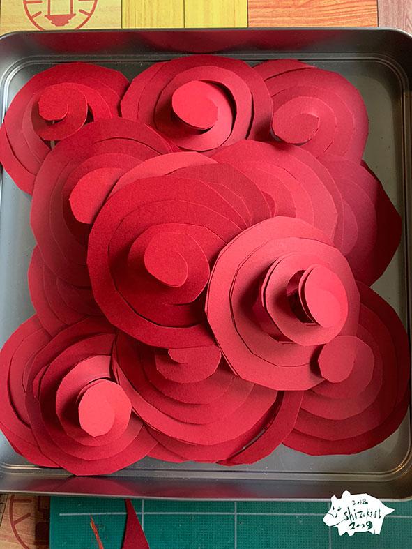 赤い渦巻き